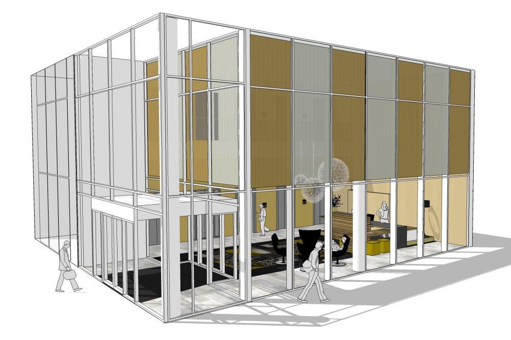 Credit Suisse-zuidas-amsterdam-ontwerp-entree