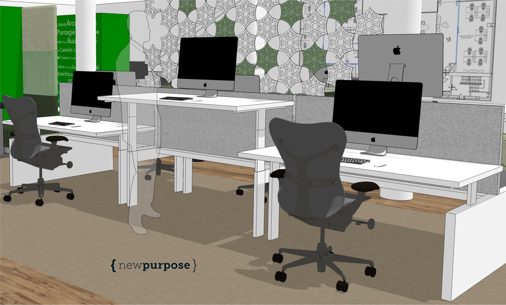 Zit sta werkplekken new purpose for Bureau zit sta