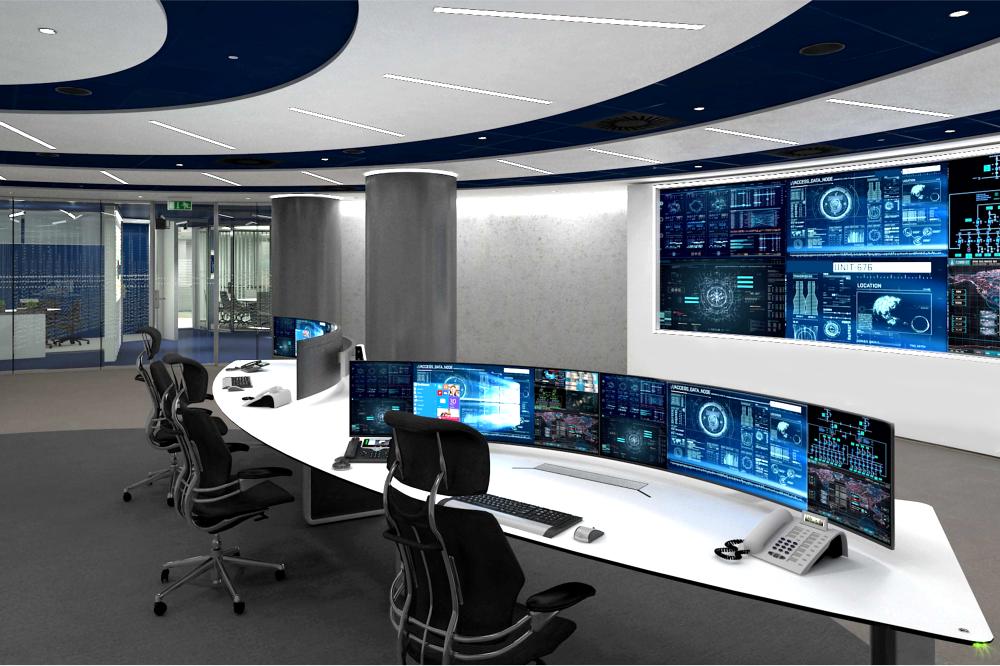 Hypermoderne Control Room – Amsterdam